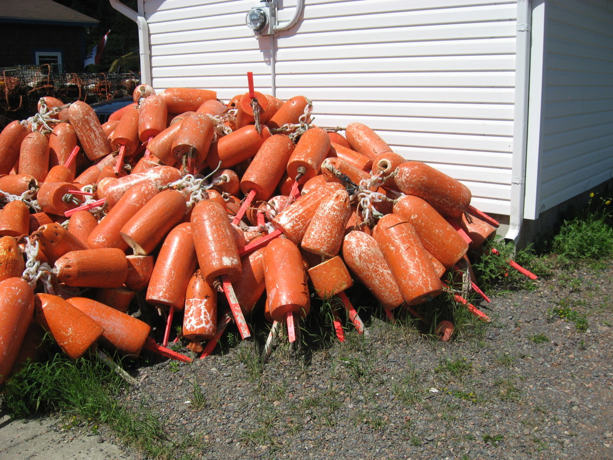 Lobster bouys in St. Martin's.
