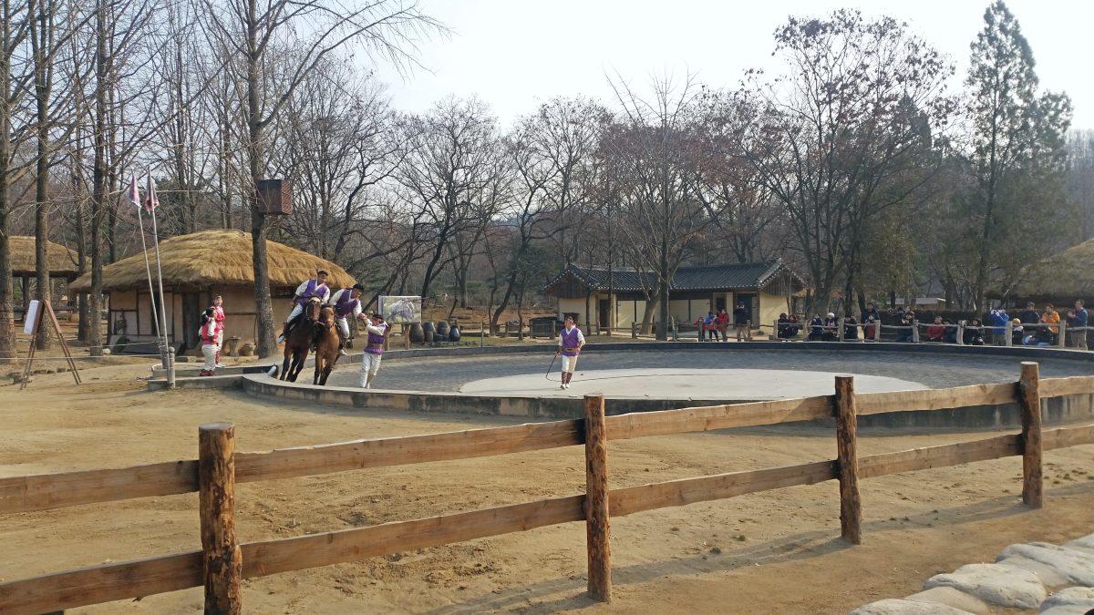 A Horseback Performance at Korean Folk Village