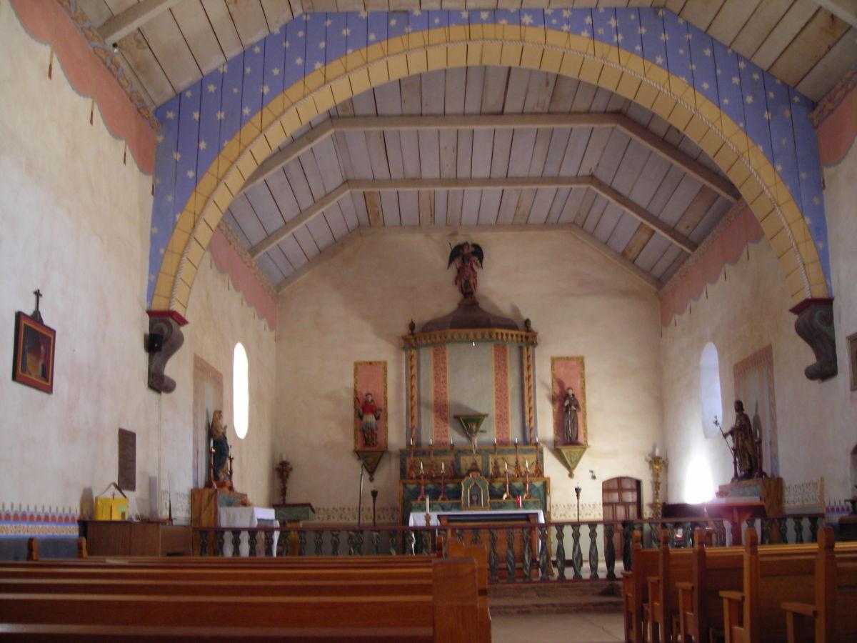 Church interior, Mission San Antonio de Padua
