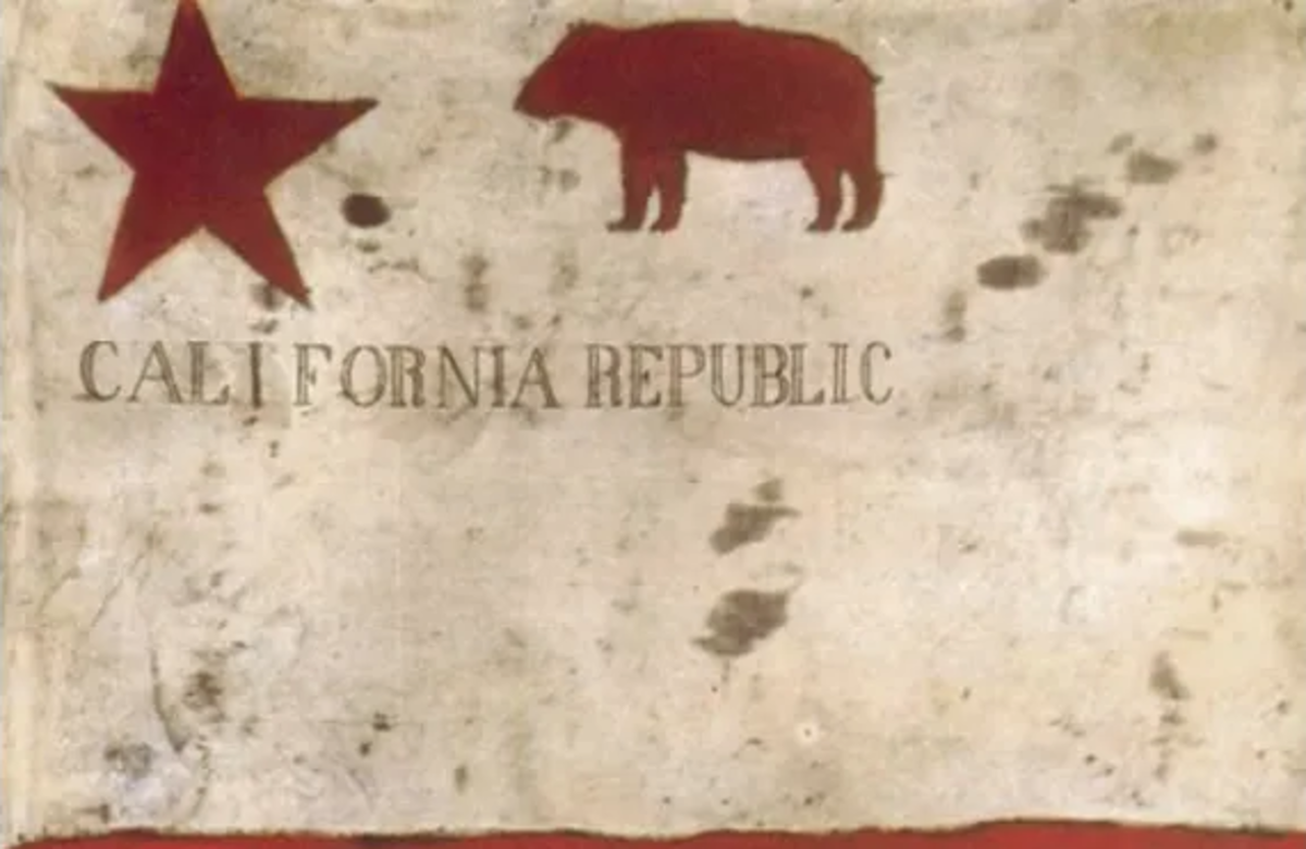 The flag of the short-lived California Republic after its independence from Mexico.
