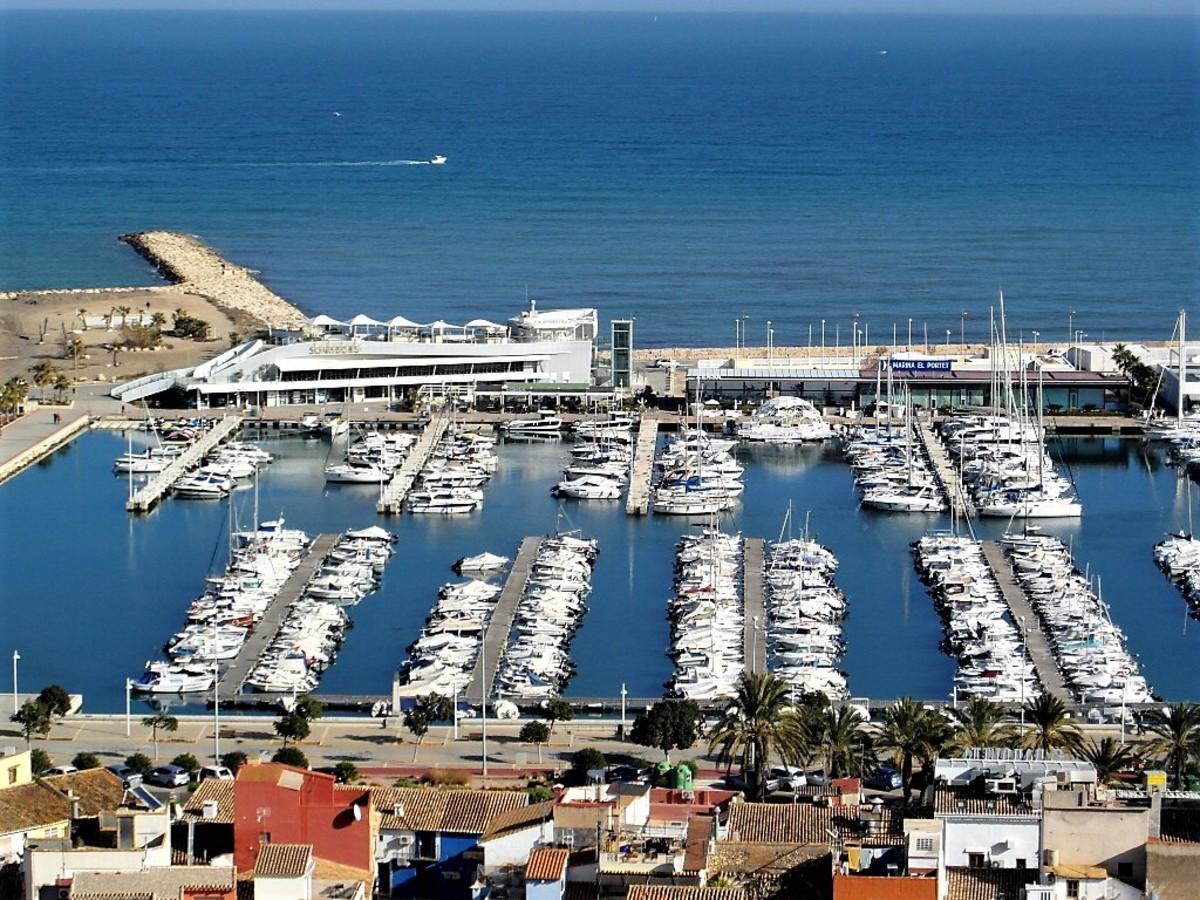 View of the port of Denia from the castle.