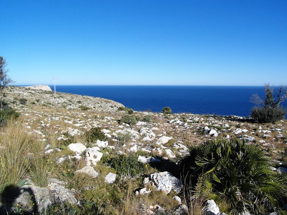 Rugged landscape on top of Cap de Sant Antoni.