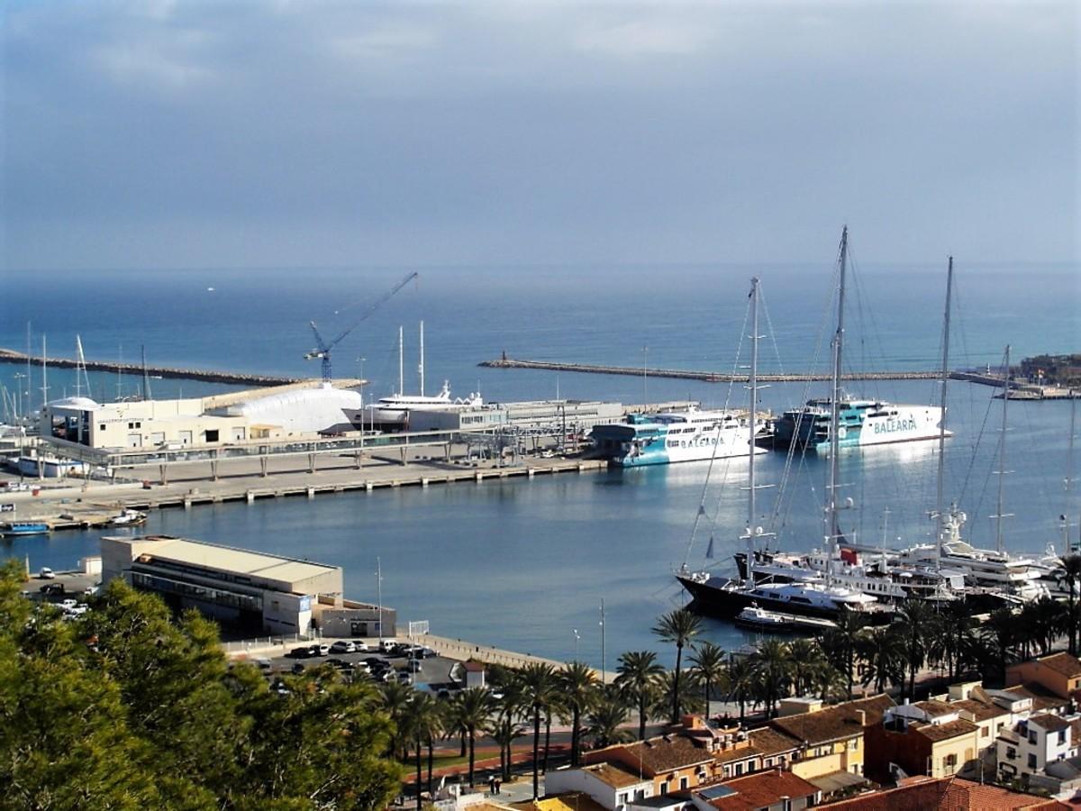 The ferry port, Denia.