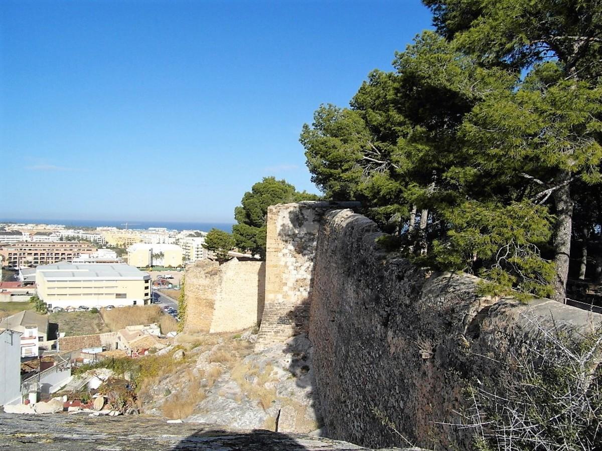The perimeter wall.