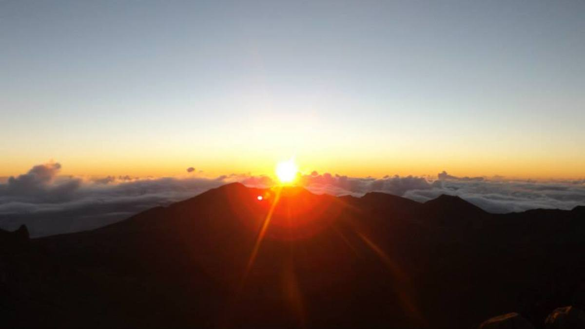 The sunrise at the top of Mt. Haleakala is breathtaking and no photo can do it justice.