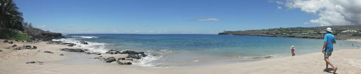 Hulopoe Beach offers so much to visitors looking for top notch snorkeling and calm waters to walk through.