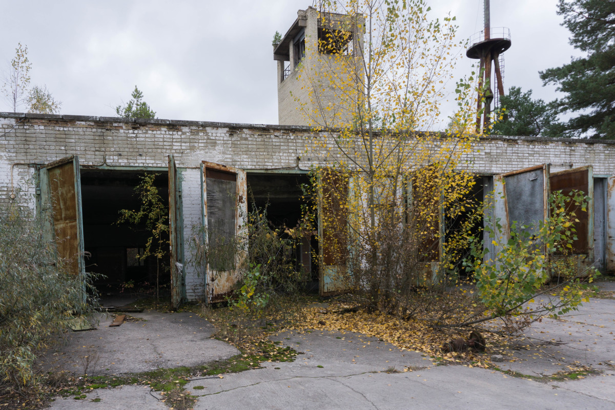 Photo of Pripyat Fire Station. All of the firefighters called out to tackle the blaze at the reactor on the night of 26 April 1986 died shortly afterwards.