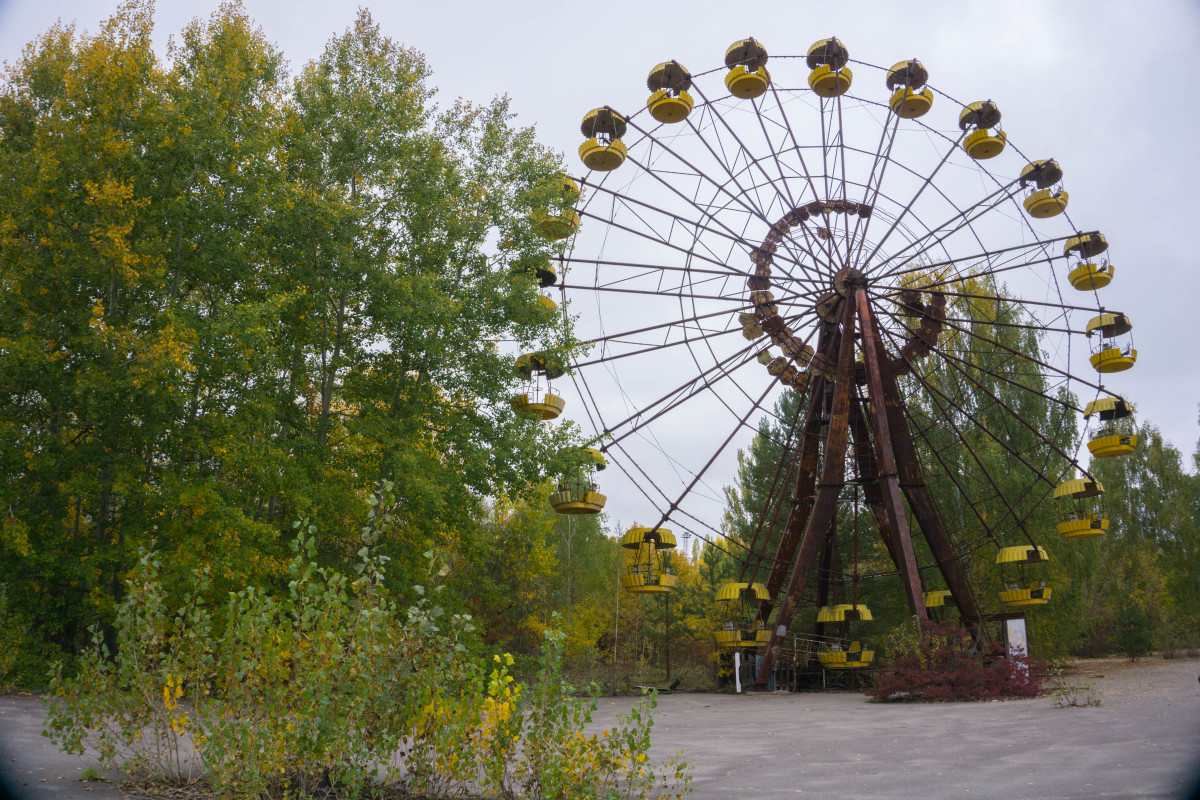 The Chernobyl disaster happened before the Ferris Wheel and amusement park in Pripyat ever opened