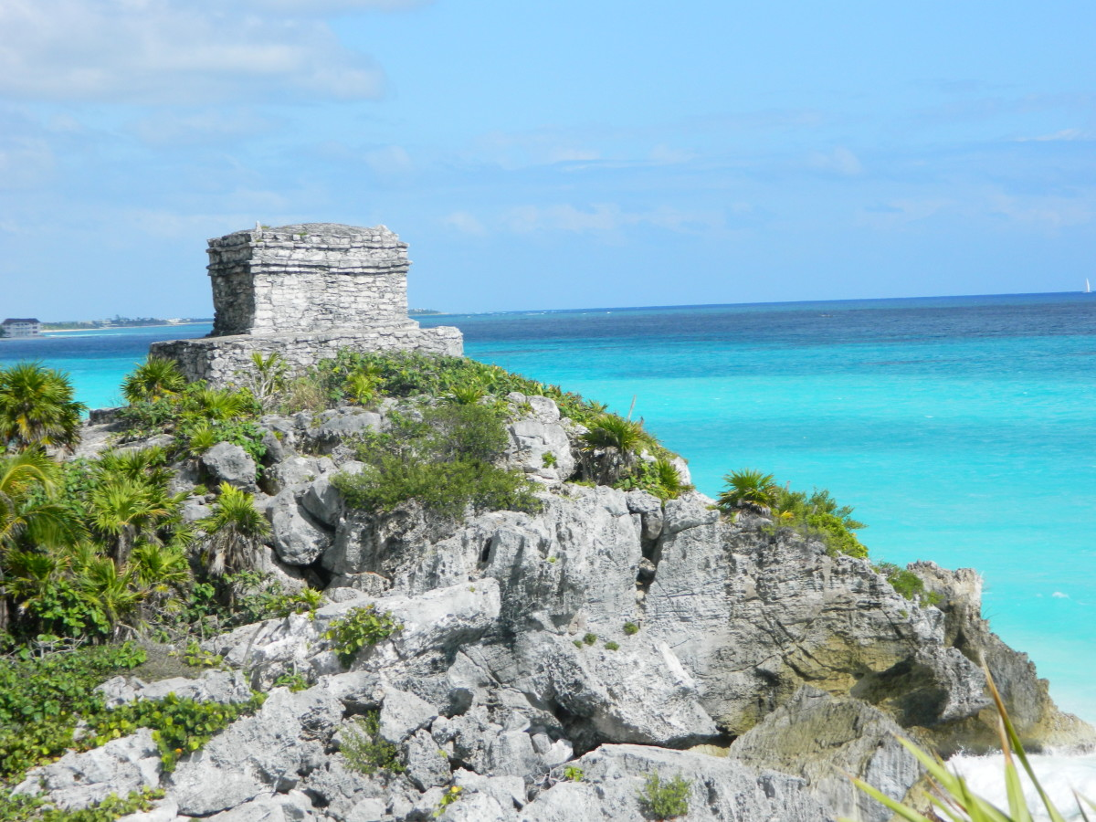Lookout point at Tulum on the Riviera Maya.