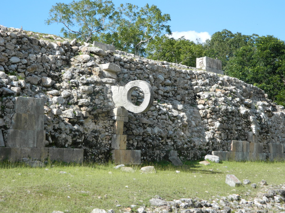 """Pitz"" ball court at Uxmal."