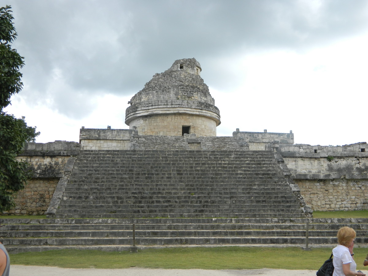 The observatory at Chichen Itza.  The Maya developed advanced astronomy, and were able to predict planetary movements.