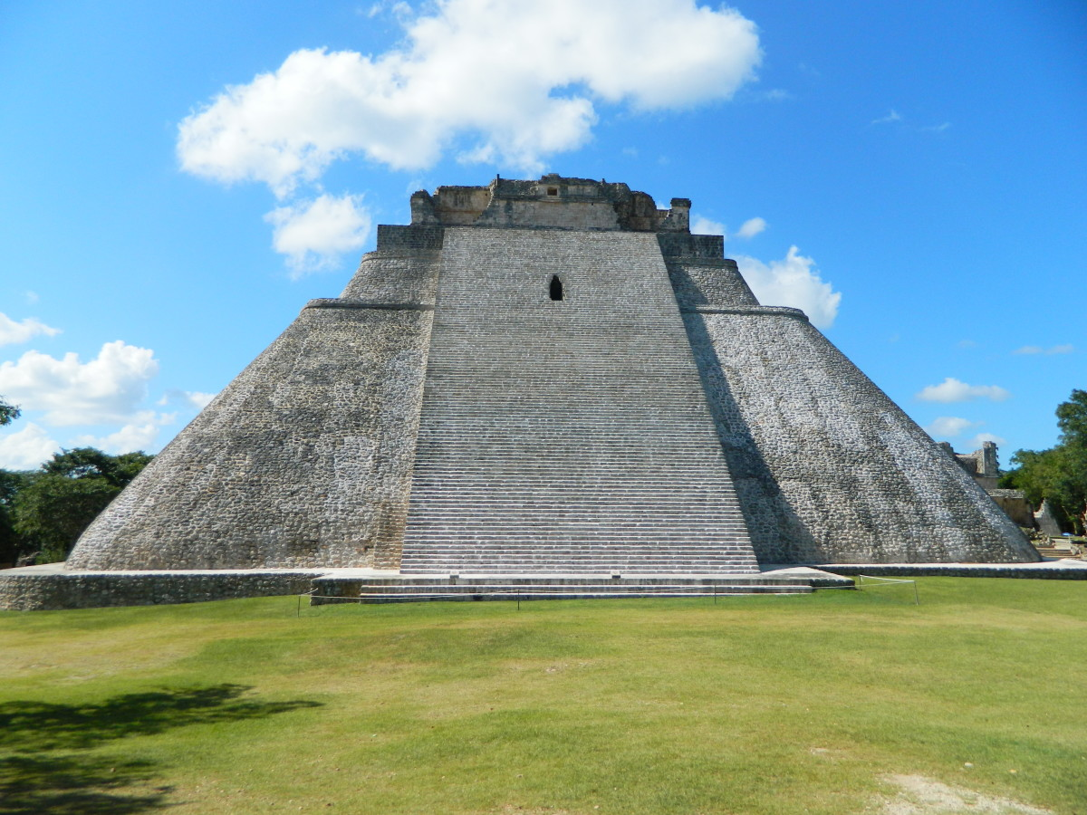 The Sorcerer's Pyramid at Uxmal.
