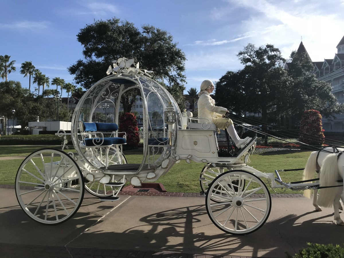 Cinderella's Carriage on Its Way to the Wedding Pavilion at Disney World