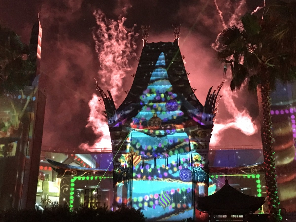 A scene from the Jingle Bell, Jingle Bam show at Hollywood Studios