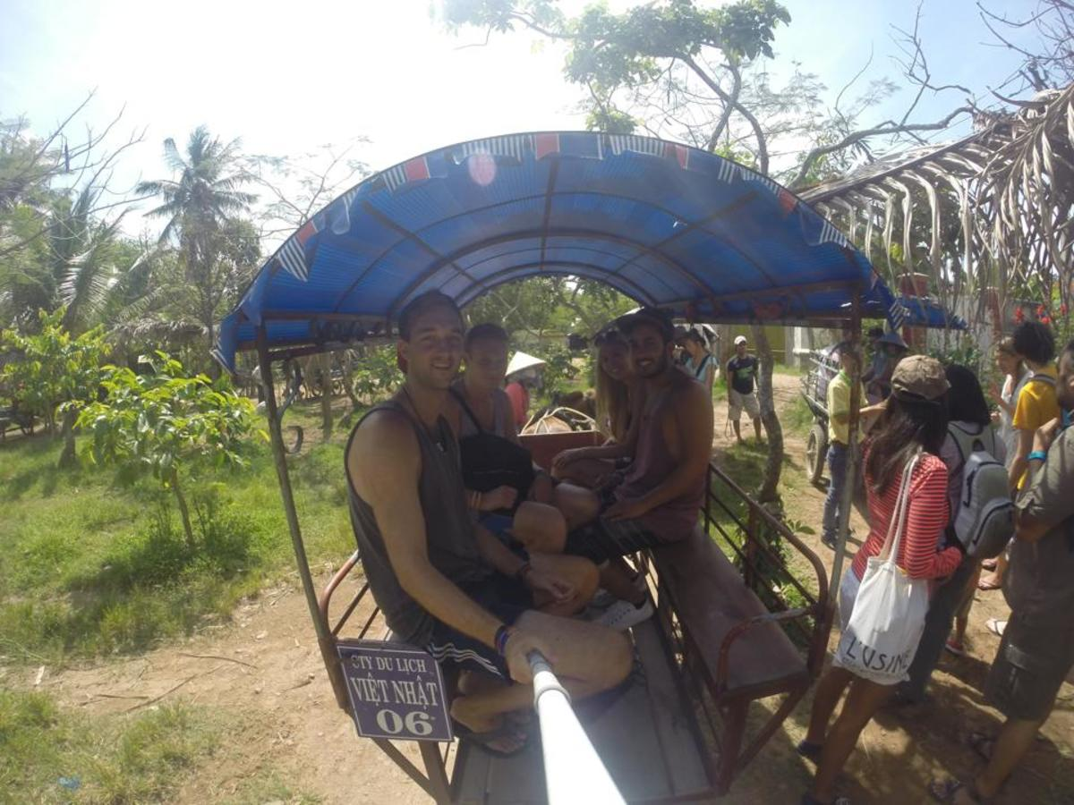 A Cart Ride With Friends at the Mekong Delta in Vietnam
