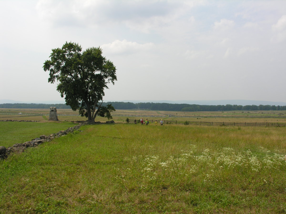 Site of Pickett's Charge, Gettysburg, PA