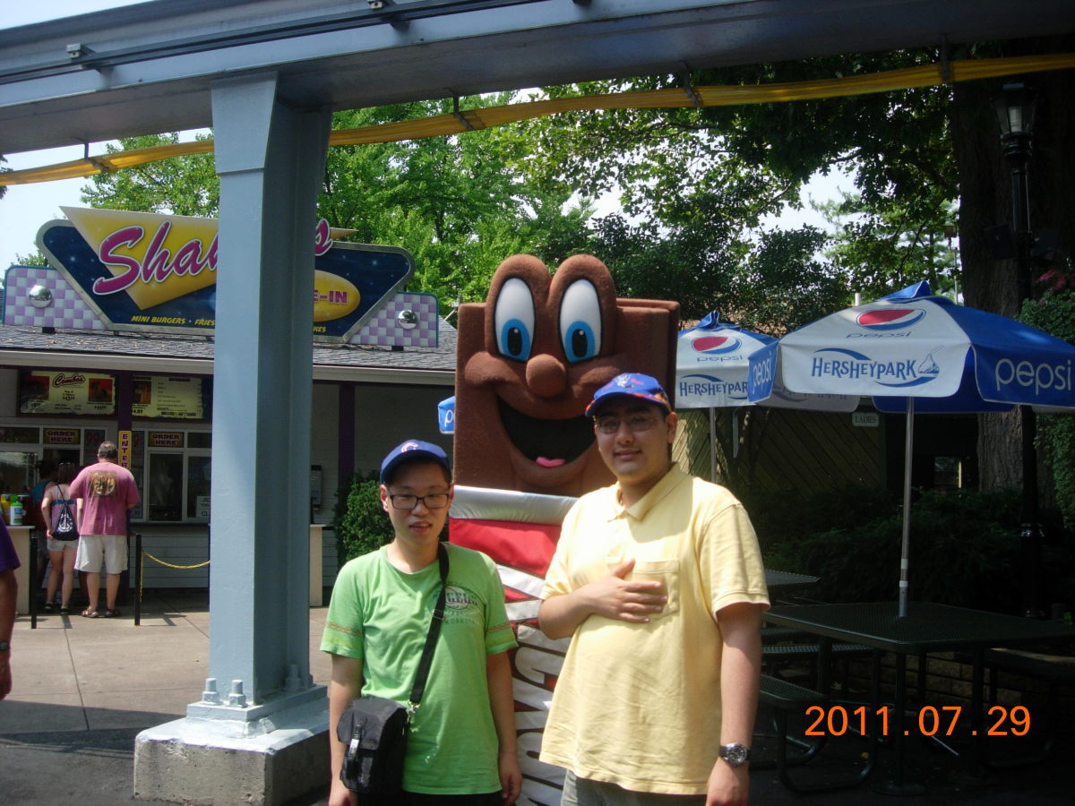 A character at Hershey Park, August 2011.
