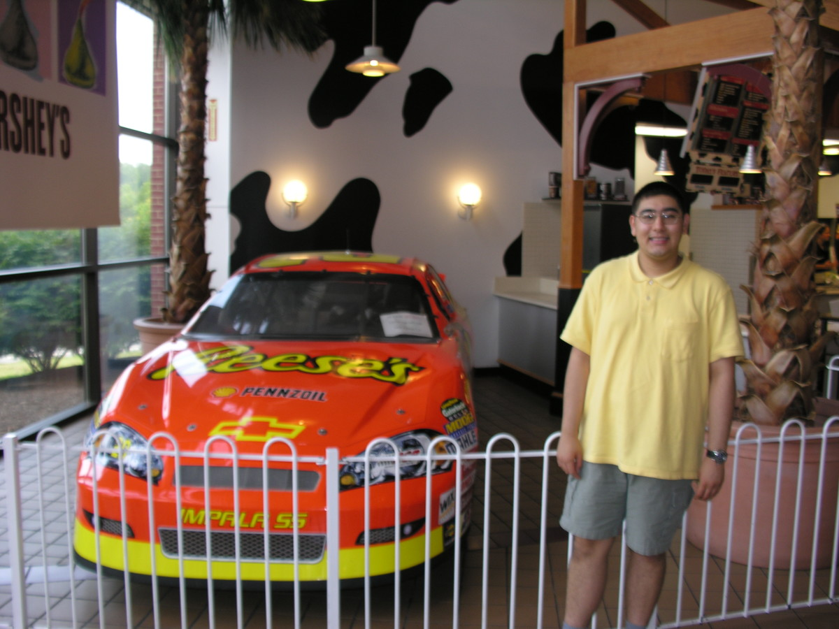 A NASCAR on display at Hershey World