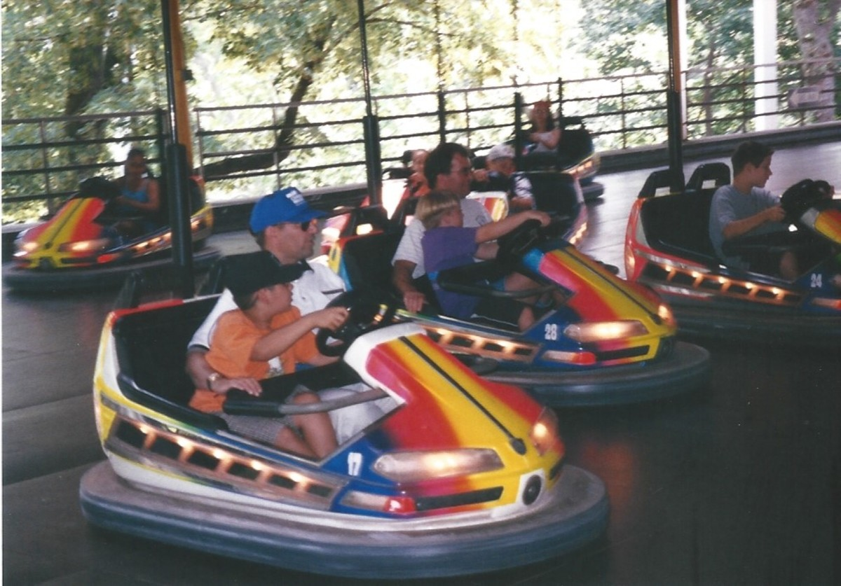 Bumper Cars at Hershey Park.