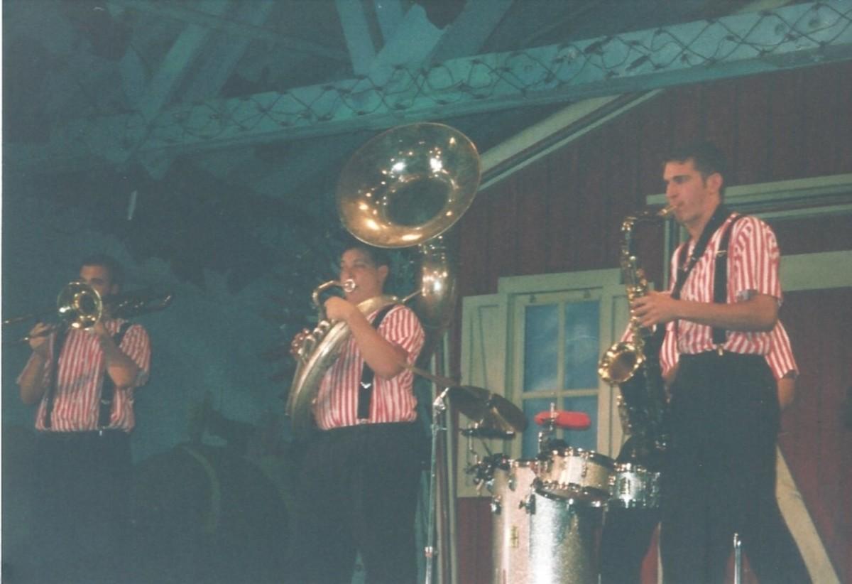 A Dixieland Band at Hershey Park
