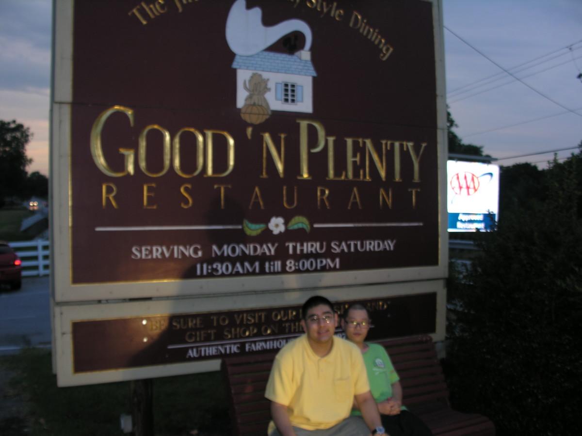Sign outside Good 'n Plenty