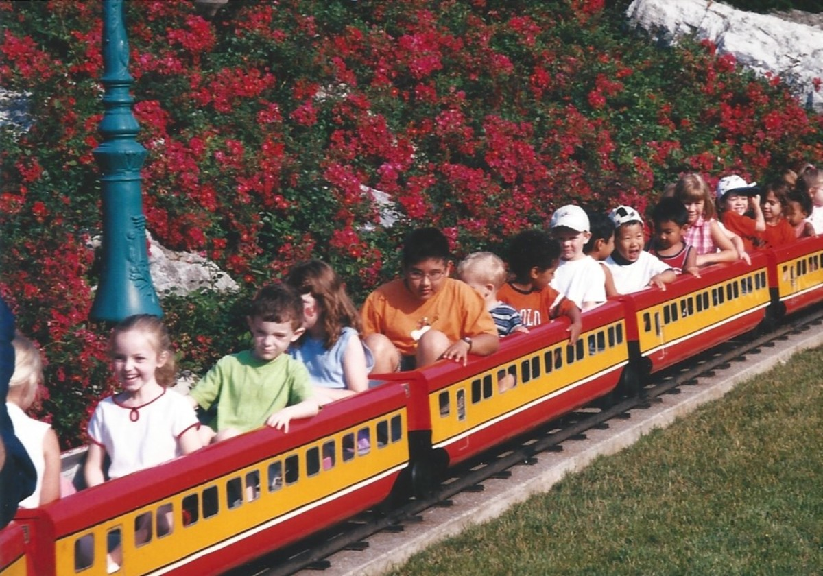 A kiddie train ride at Hershey Park