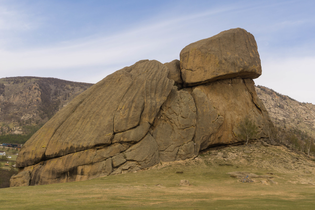 Turtle Rock in the Gorkhii Terelj National Park Protected Area
