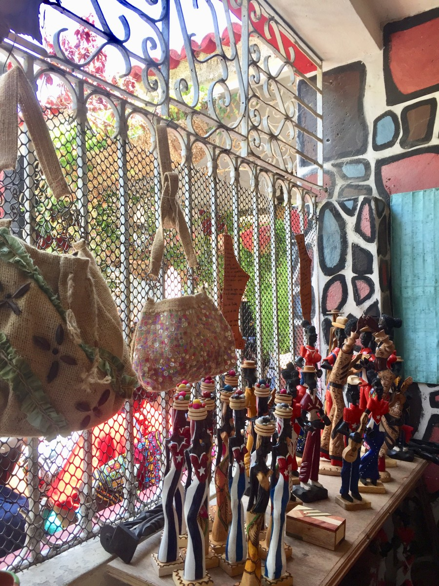 Art crafts and sculptures in wood for sale; it seems everything is handmade in Cuba.