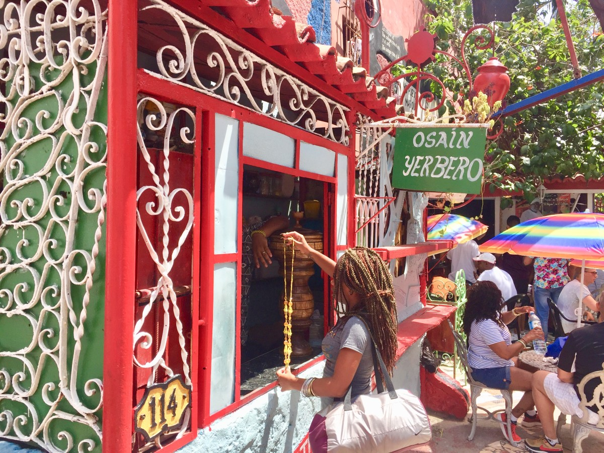 A shop selling items linked to Santería, a syncretic Afro-Cuban religion.