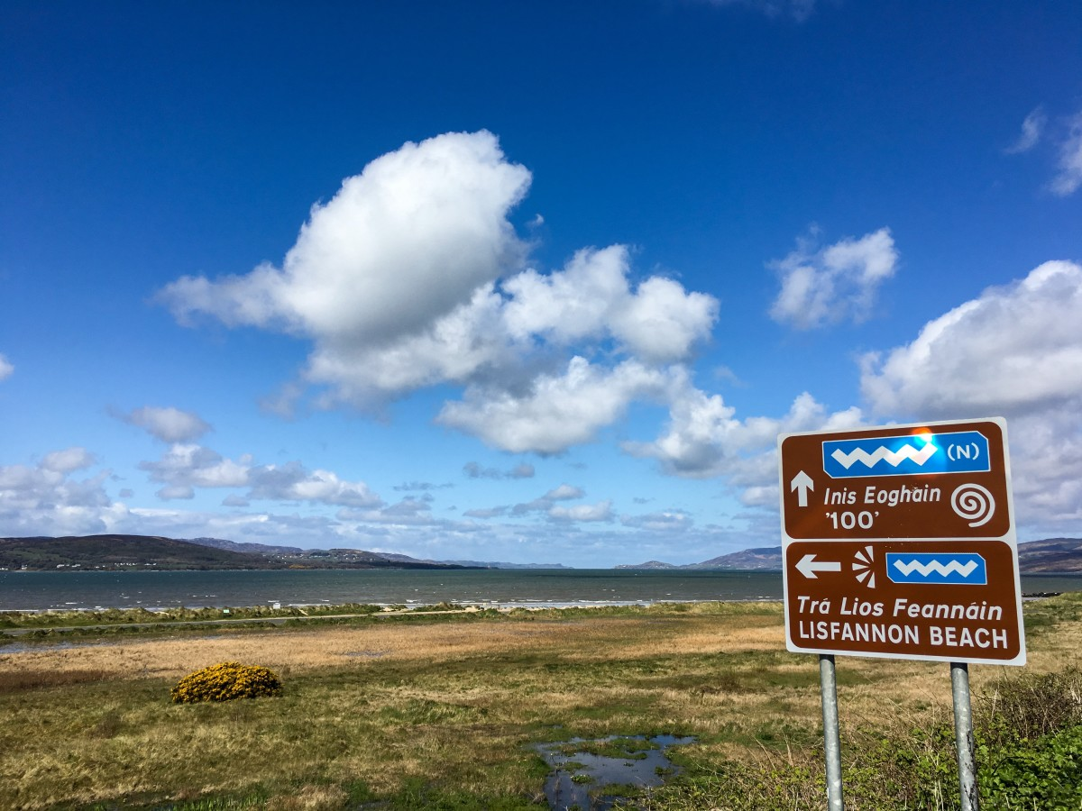 Inishowen 100 Signs Along Lough Swilly and Lisfannon Beach