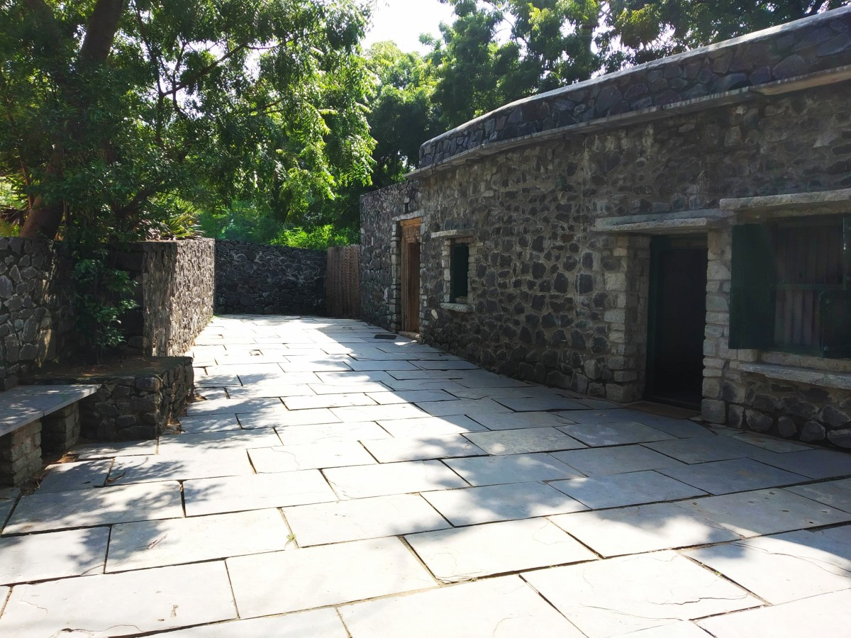The Front Courtyard of Ilkal Weaver's House