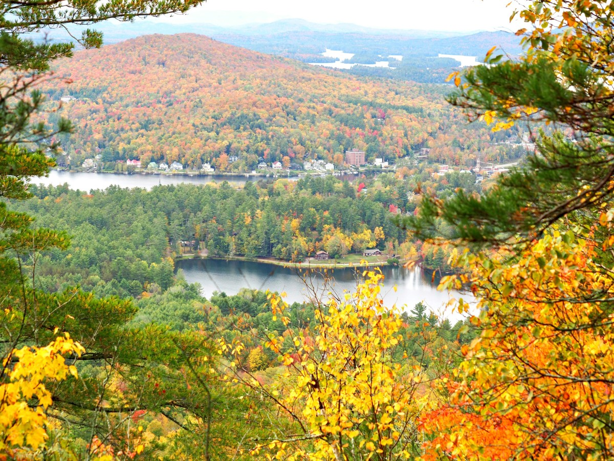 The view from atop Baker Mountain in the Adirondacks.