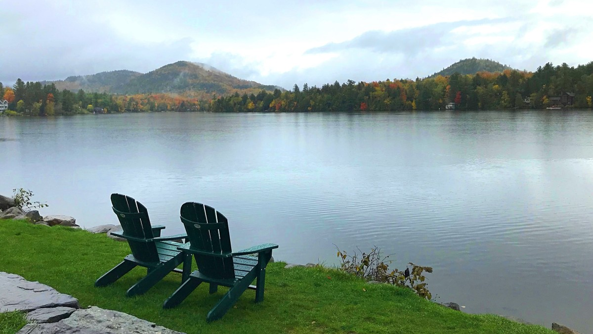 View from the village of Lake Placid
