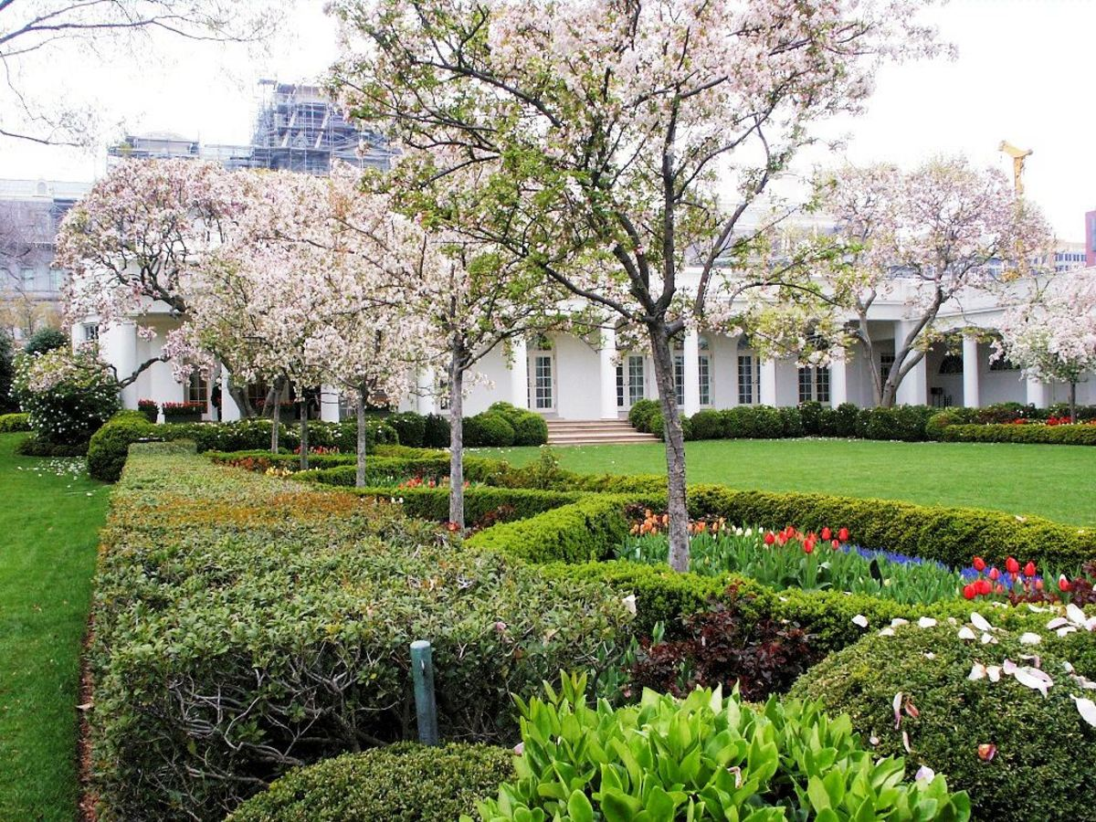 Rose Garden at the White House in Washington DC