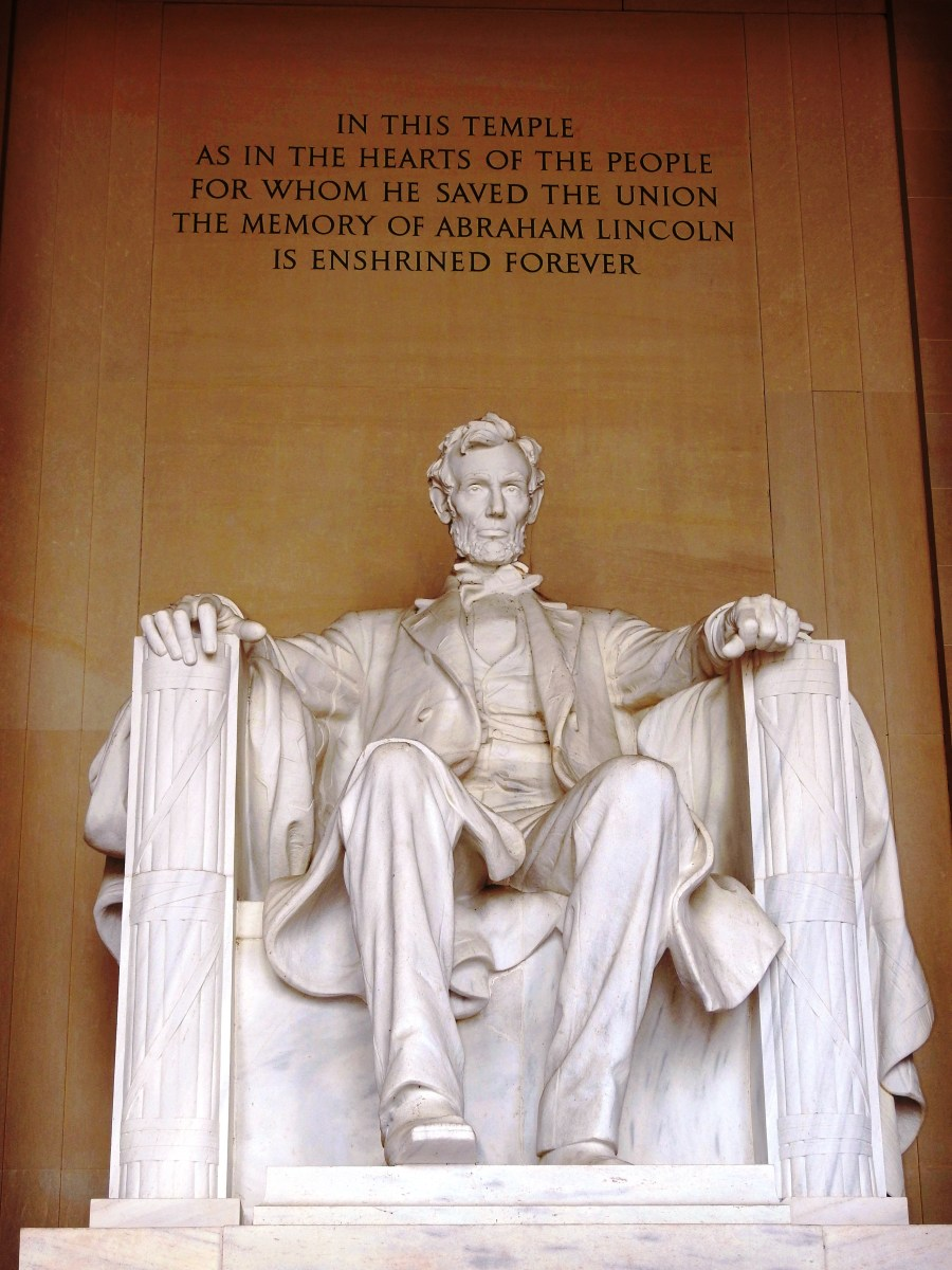 Abraham Lincoln Memorial at the National Mall in Washington DC