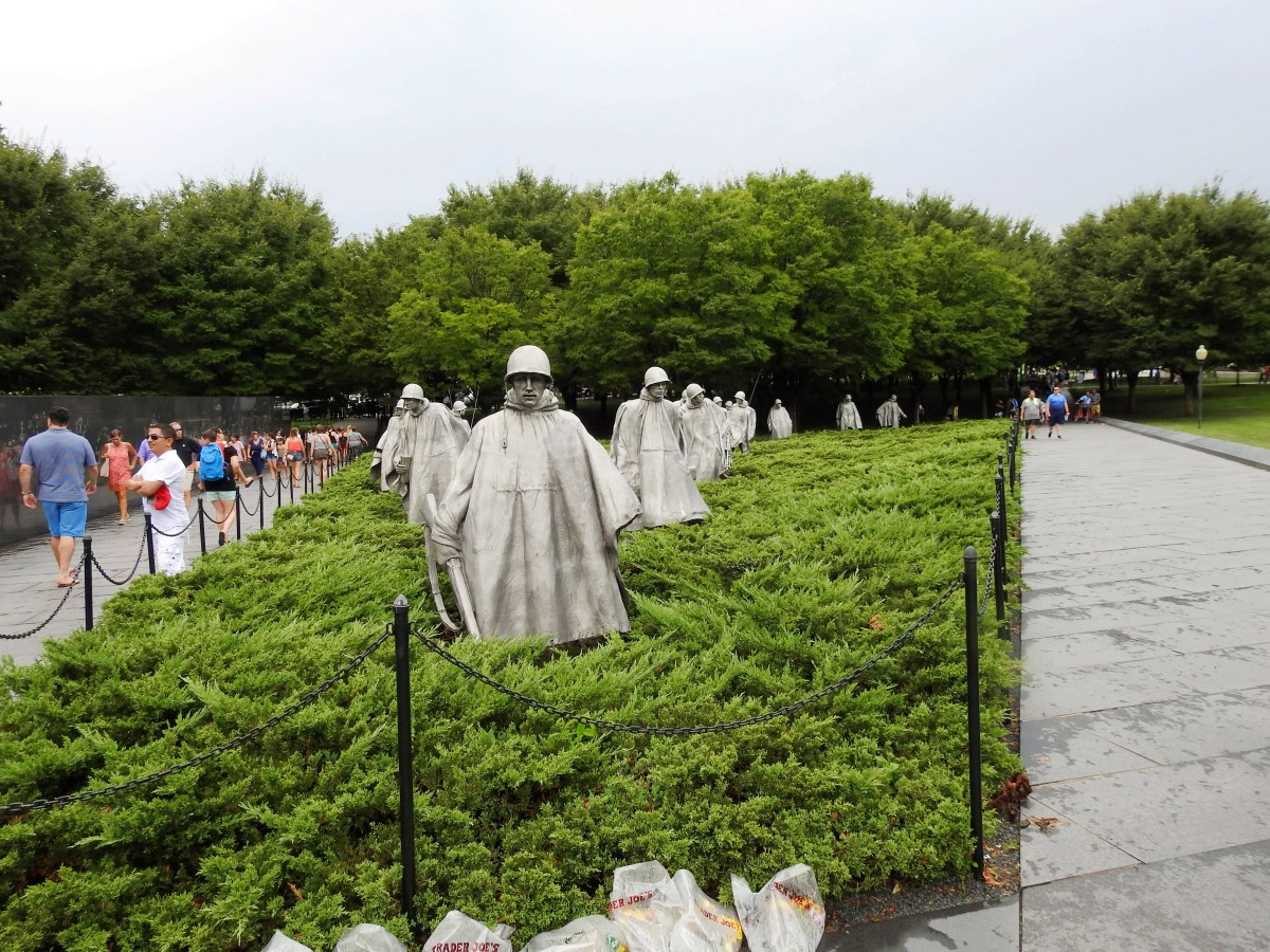 Korean War Memorial at the National Mall in Washington DC