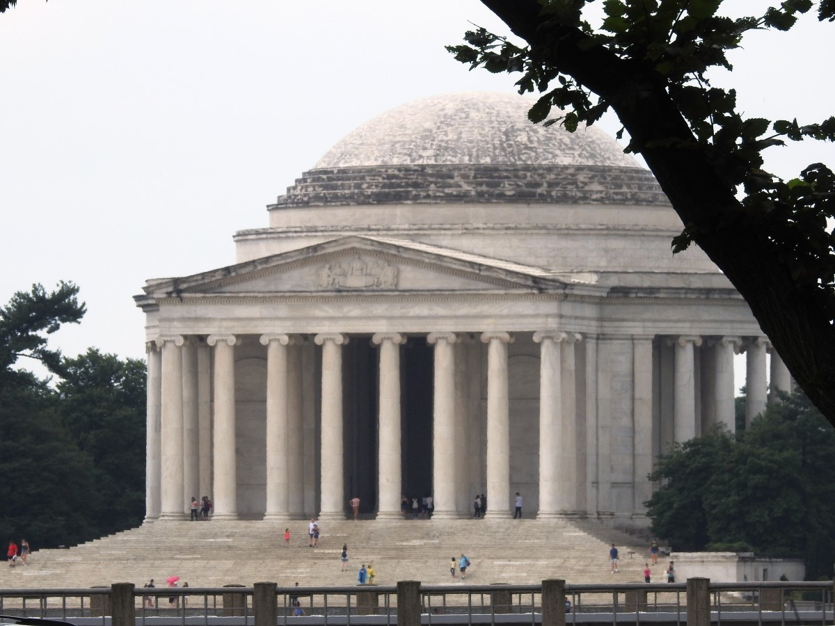 Jefferson Memorial at the National Mall in Washington DC