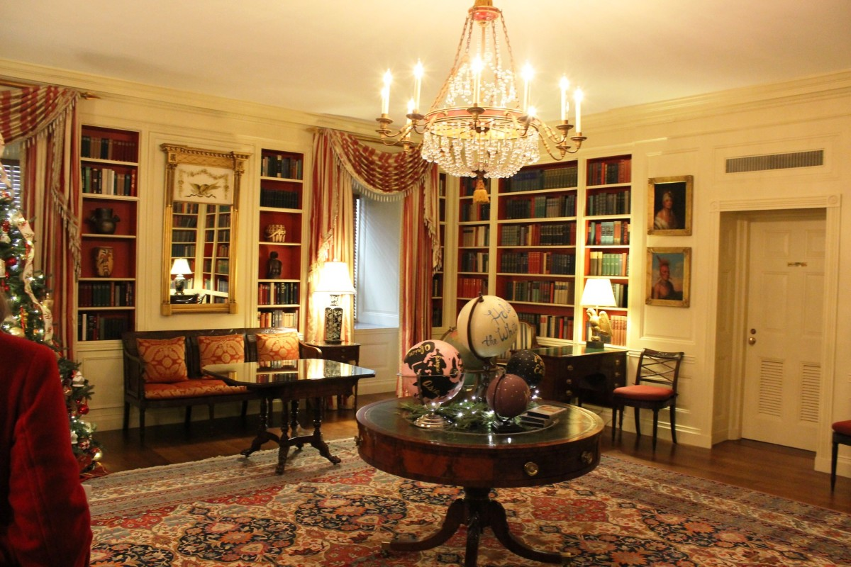 Library at the White House in Washington DC
