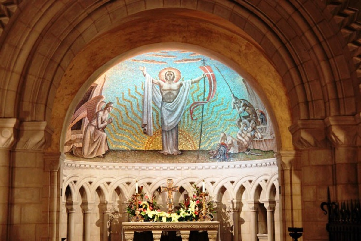 Resurrection Chapel at the Washington National Cathedral in Washington DC