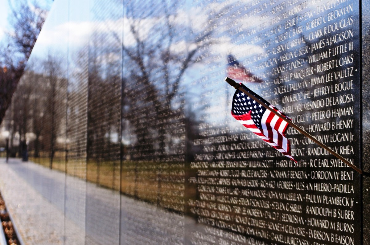 Vietnam Veterans Memorial at the National Mall in Washington DC