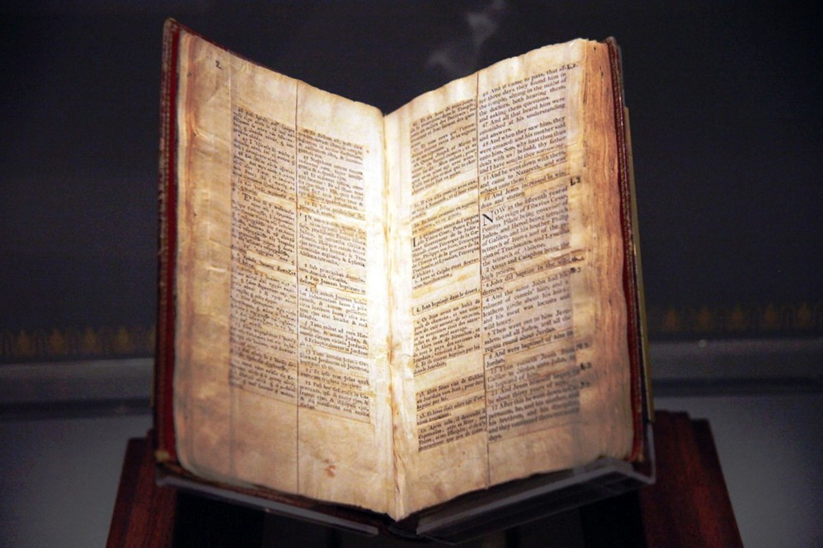 Thomas Jefferson's Bible at the National Museum of American History - Smithsonian Institution in Washington DC