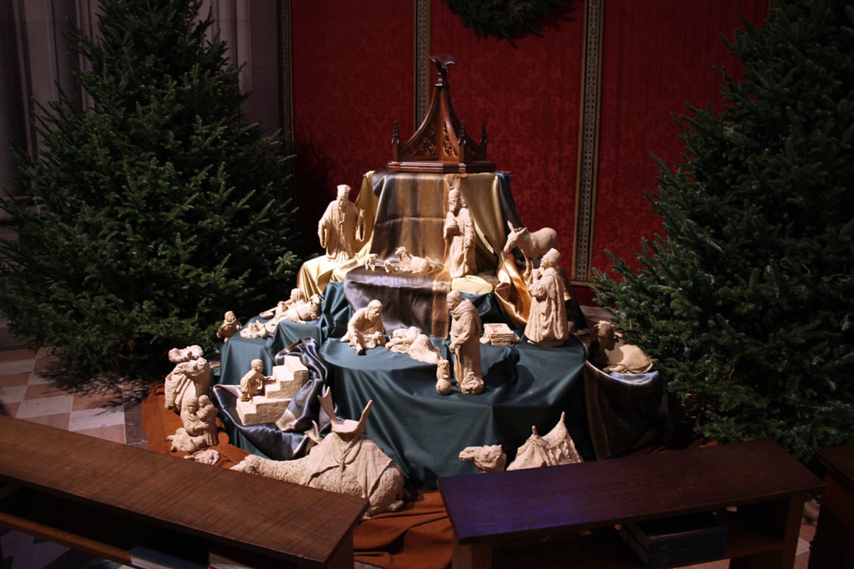 Nativity Set at the Washington National Cathedral in Washington DC