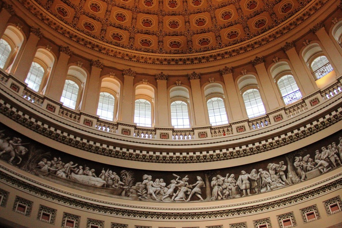 Capitol Rotunda Dome at the U.S. Capitol Building in Washington DC