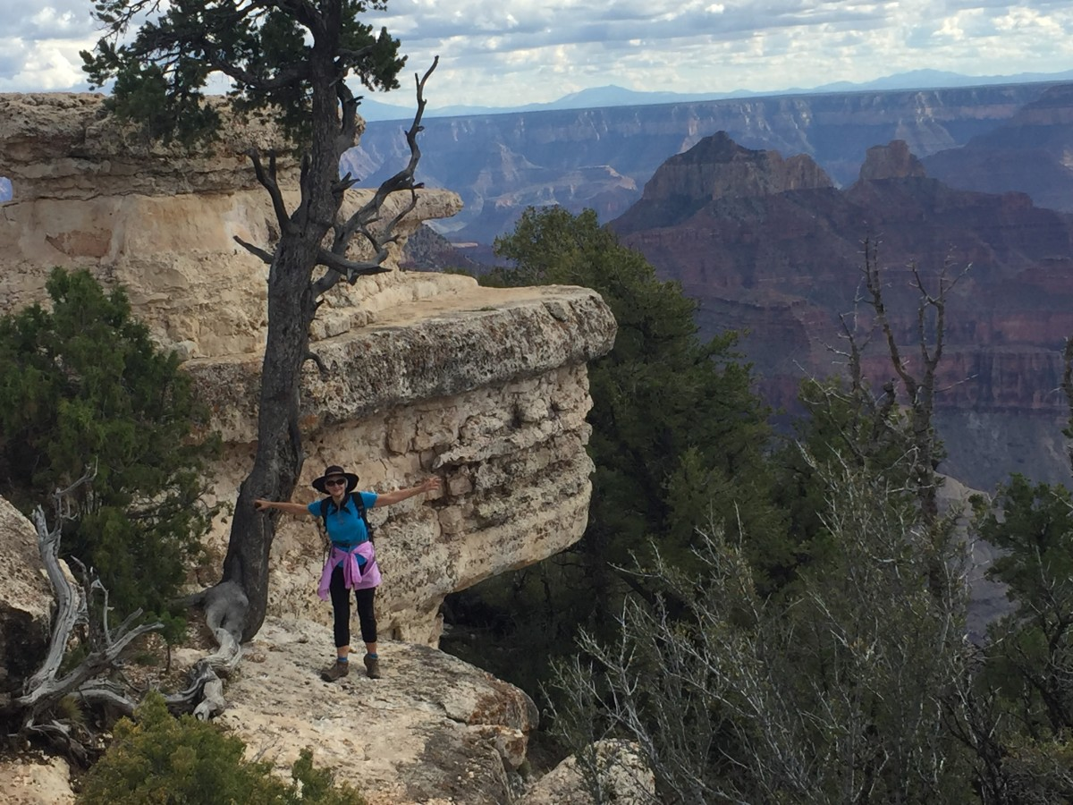 My wife viewing Grand Canyon from the North Rim