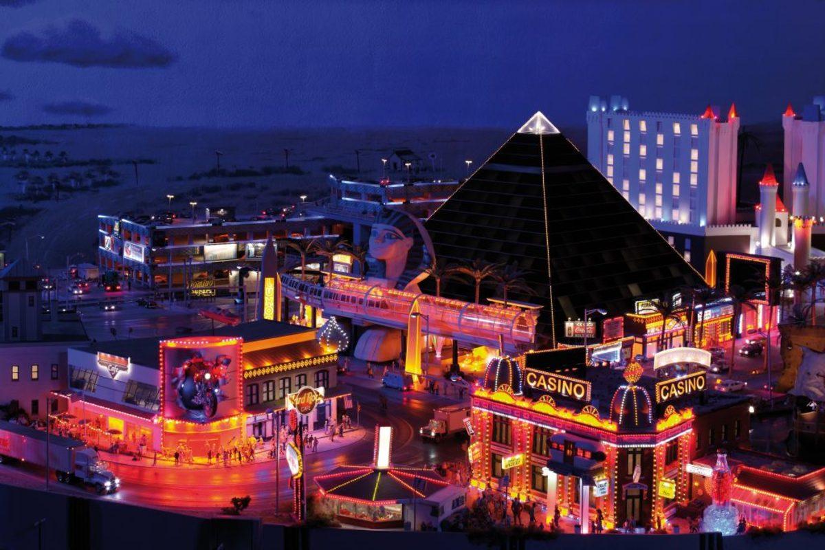 The Luxor Hotel pyramid dominates Las Vegas.