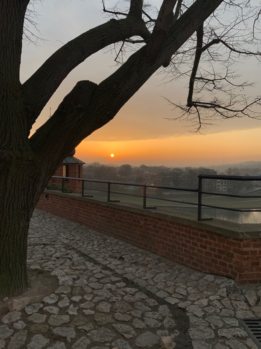This Wawel Castle sunset was one of the highlights of my trip to Krakow.