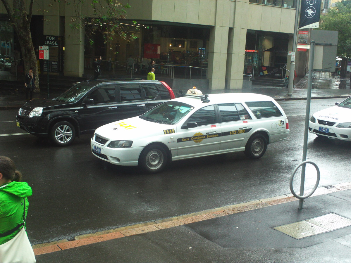 Most taxis in Sydney are white- so don't try to find a yellow taxi cab!