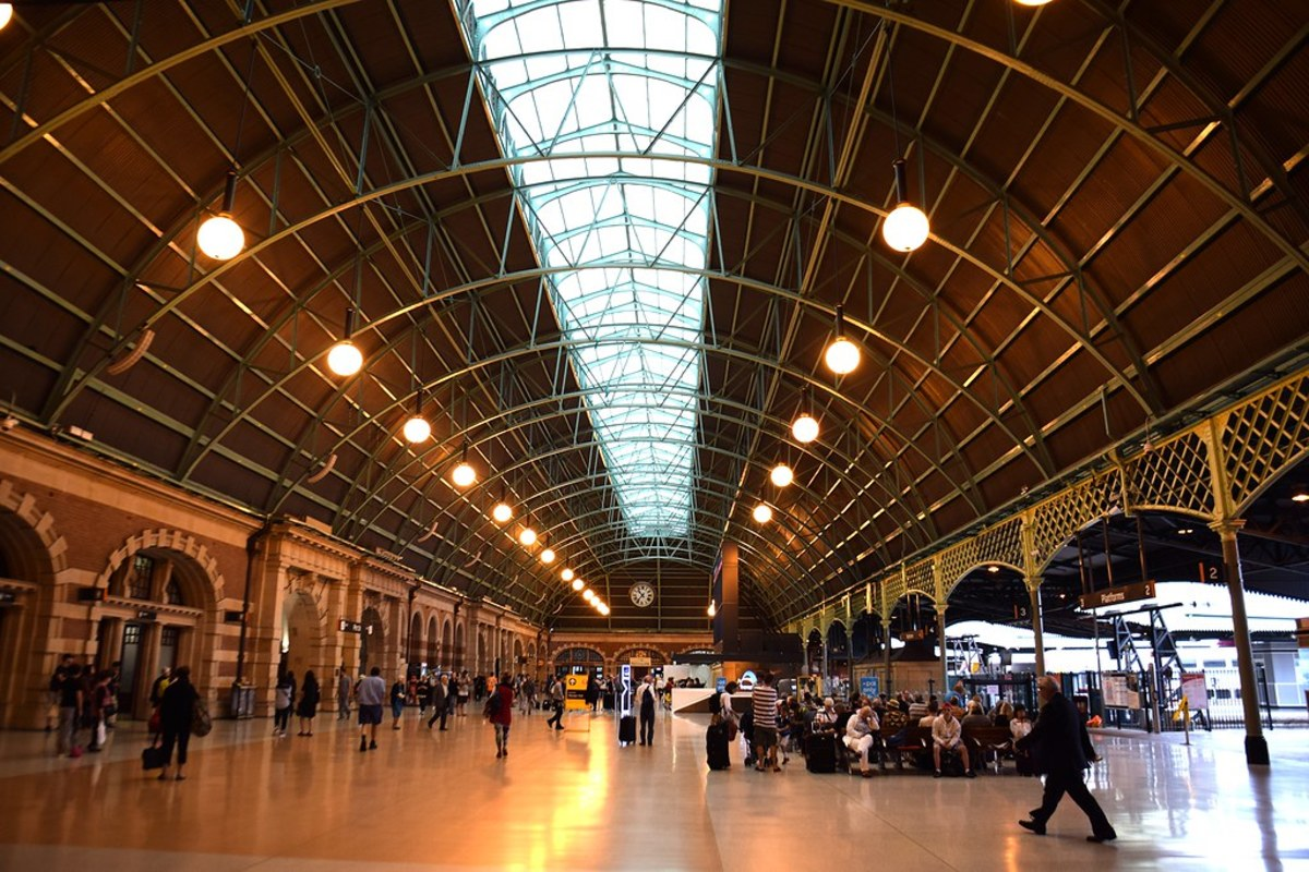 Sydney's Central Station is the main hub for commuters on train, bus and light rail.