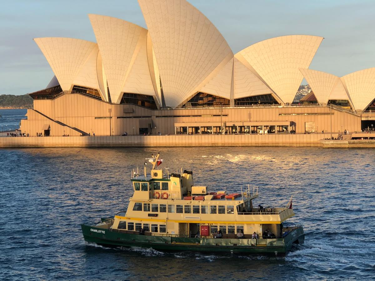 Sydney's ferries offer a beautiful view of the harbour and the city, as well as transportation.