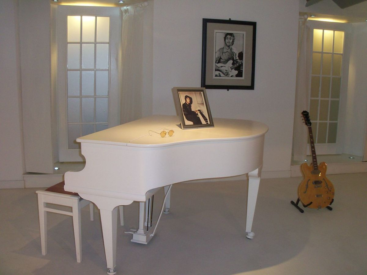 This elegant Steinway piano is one of the star turns at the Beatles Story attraction. It was John's favourite and the piano upon which he composed Imagine.